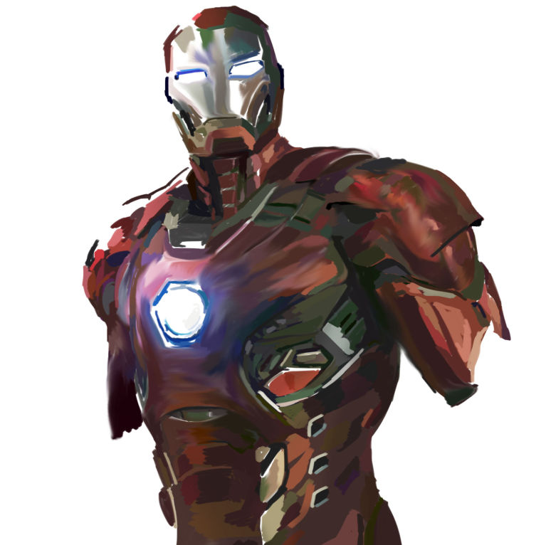 Quick digital sketch of Iron Man Mark XLV