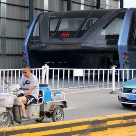 Arrests over China 'straddling bus' project
