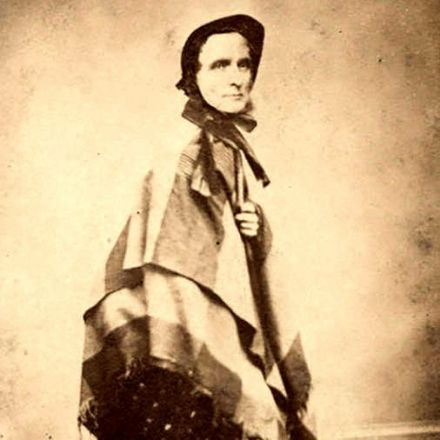 Photograph of Jefferson Davis in Women's Clothing