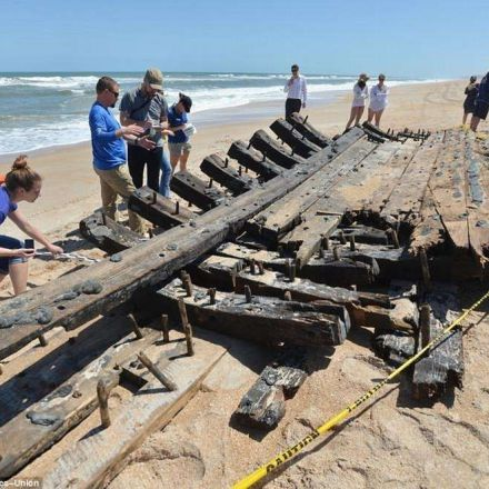 Historic hull of 18th century ship washes ashore in Florida