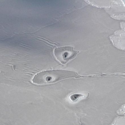 No one knows what created these strange shapes in the Arctic
