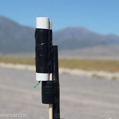 Homemade rocket can reach 2,300 feet for less than a dollar