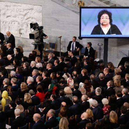 Nobel Peace Prize winners warn nuclear war is 'a tantrum away'
