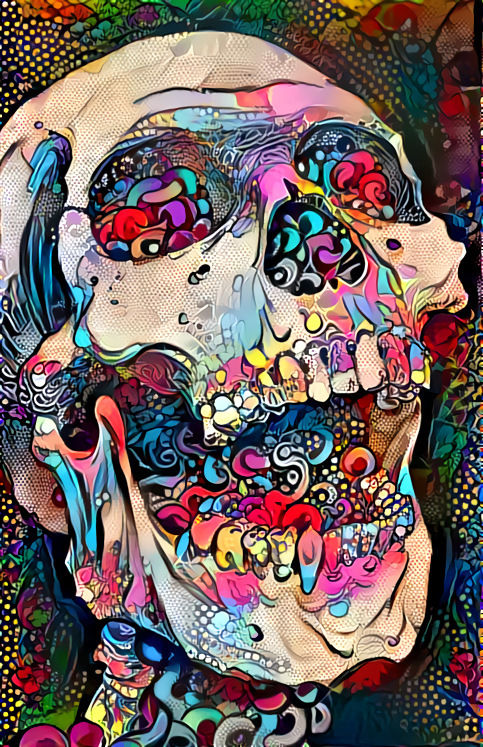 Skull Deep Dream