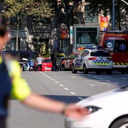 Barcelona: Van rams crowds in Ramblas tourist area - BBC News
