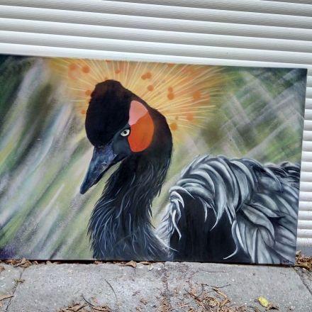 Black Crowned Crane by Martinus, 2017