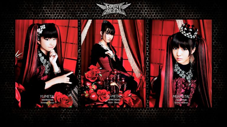 The three singers making BABYMETAL are Su-metal, Yuimetal, and Moametal.