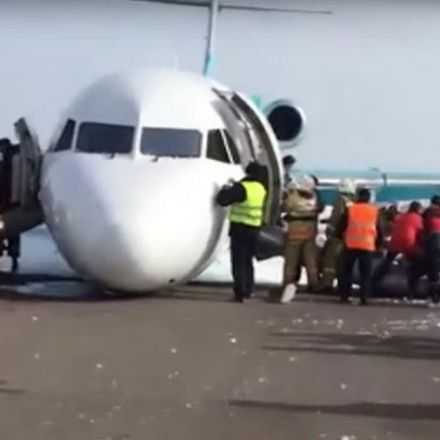 Ace pilots belly land passenger jet in Kazakhstan, all 116 passengers safe (VIDEOS)