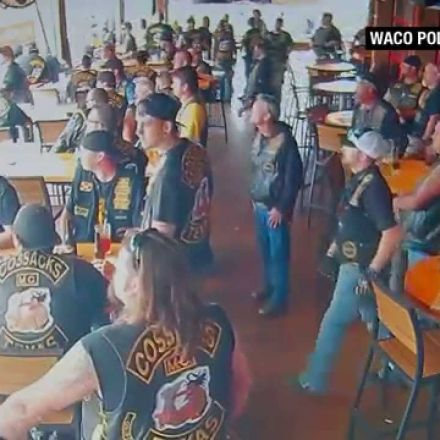 Surveillance video shows Waco biker shooting