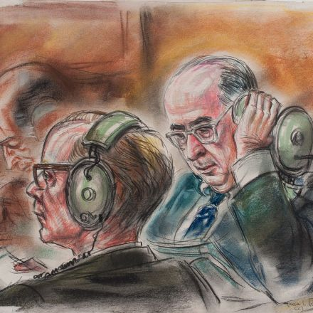 These authentic courtroom sketches of the Watergate trials capture the bitter end of a president