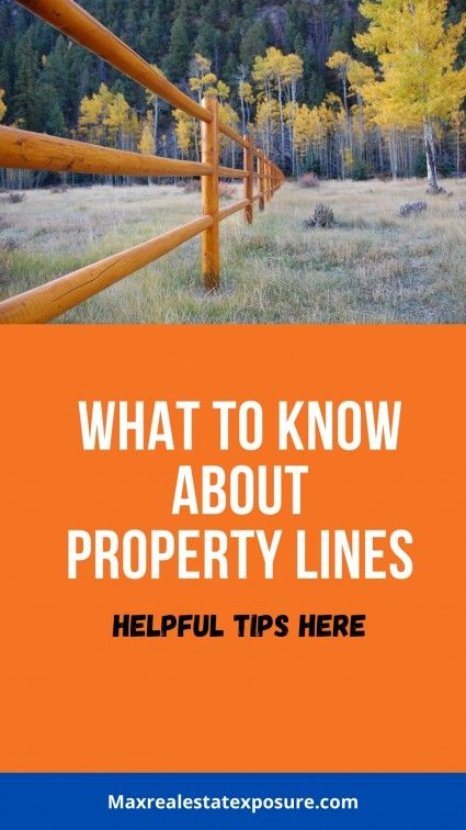 How can you find property lines?