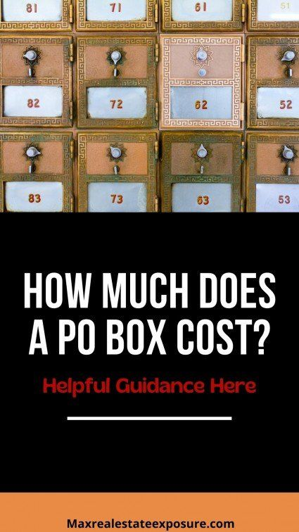 How much is a PO box to rent?