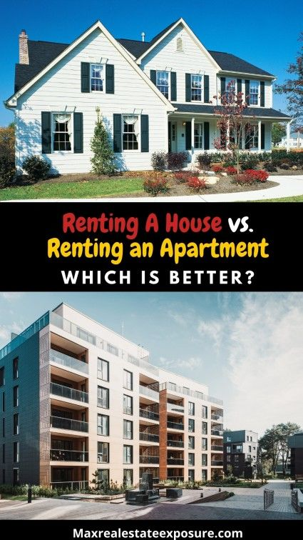 Which should I choose - renting a house or renting an apartment?