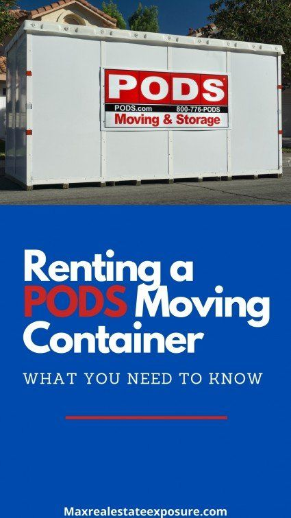 What to know about renting a PODS Storage container