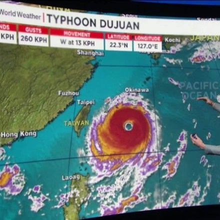 Typhoon Dujuan Advancing Toward Taiwan