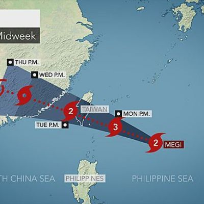 Taiwan Braces for Landfall of Typhoon Megi