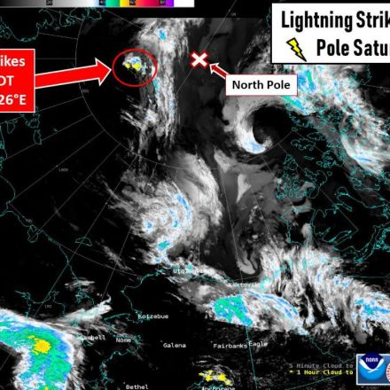 Lightning struck near the North Pole 48 times. It's not normal.