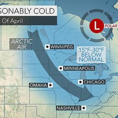 Polar Vortex to Plunge Cold into Midwestern, Eastern US in Early April