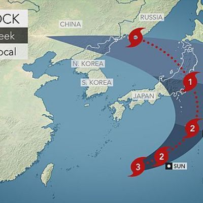 Typhoon Lionrock to Barrel into Japan's Northern Honshu Island on Tuesday