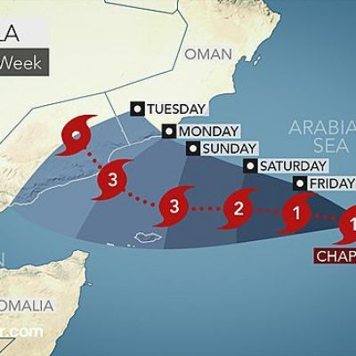 Strengthening Cyclone Chapala Targets Oman and Yemen