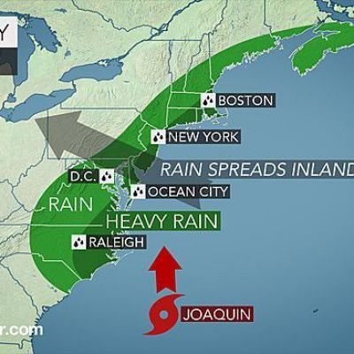 Tropical Storm Joaquin to Track Near East Coast, Escalate Flood Threat