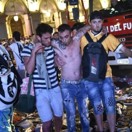 More than 1,000 soccer fans injured in stampede in Turin, Italy