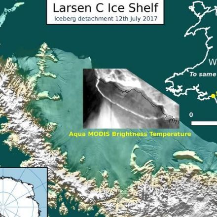A trillion-tonne iceberg has just snapped off the West Antarctic ice shelf