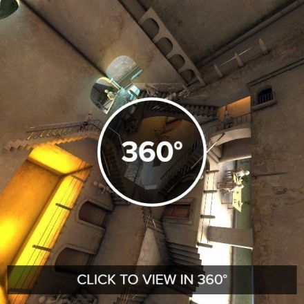 Escher  Relativity  in 360 interpretation