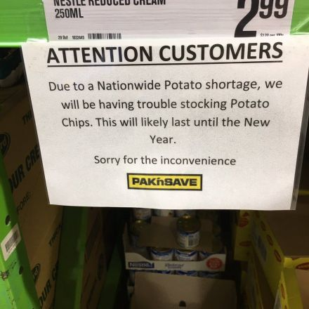 Chipocalypse: potato shortage in New Zealand sparks crisp crisis