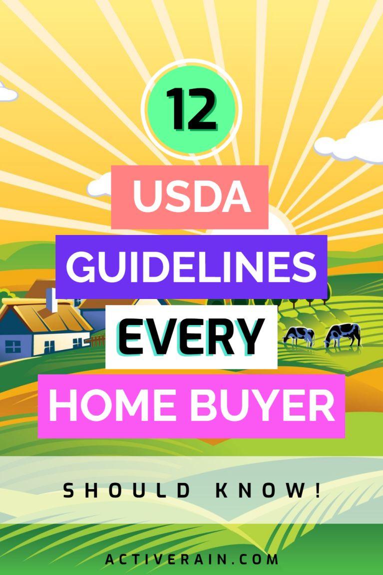 12 USDA Loan Guidelines