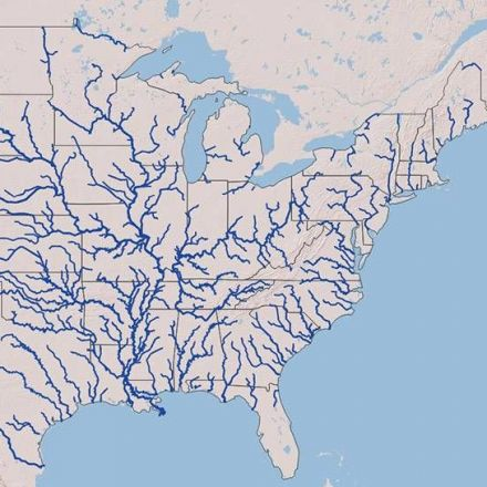 Interactive Map Of US River Systems Snapzucom - Map Of Us River Systems