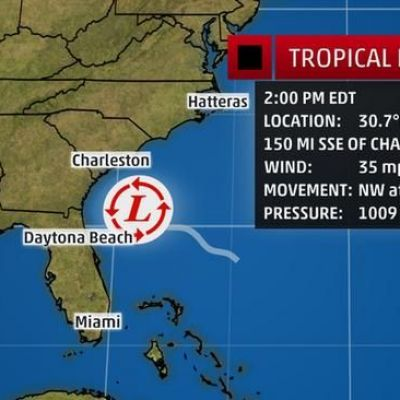 Tropical storm forming in Atlantic cuts path toward South Carolina