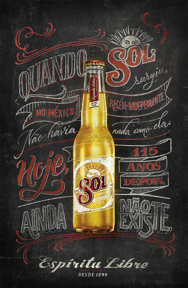 SOL BEER SIGN PAINTING BY JACKSON ALVES