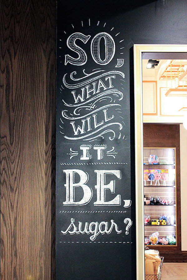 LOLLI AND POPS CHALK WALL BY RYAN LEE