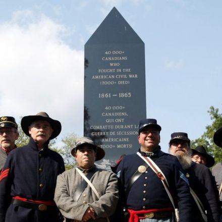 Canada unveils monument to US Civil War