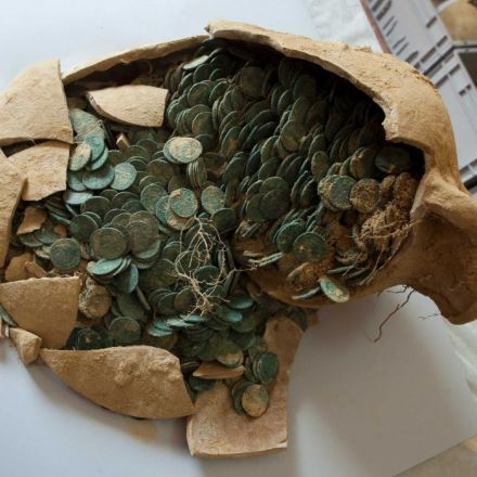 More than half a tonne of ancient Roman coins found in Spain