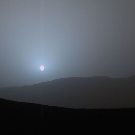 Incredible sunset on Mars