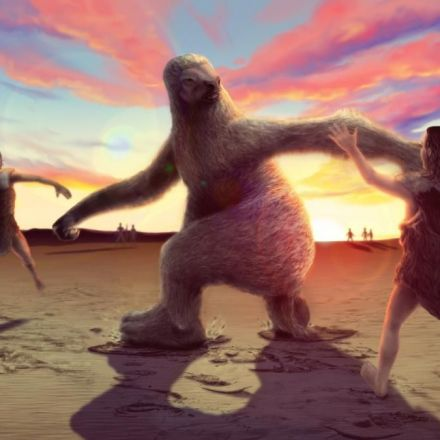 Giant sloth vs. ancient man: fossil footprints track prehistoric hunt