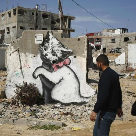 Graffiti artist Banksy highlights condition of people living in Gaza