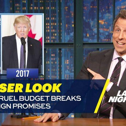 Trump's Cruel Budget Breaks His Campaign Promises: A Closer Look