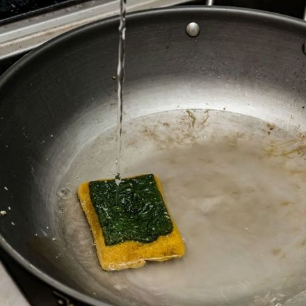 Your kitchen sponge harbors zillions of microbes. Cleaning it could make things worse