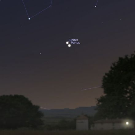 Next Week, Watch Venus And Jupiter High-Five In The Night Sky