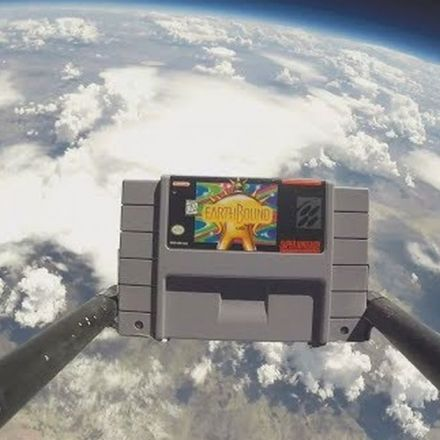 Someone sent this 'Earthbound' SNES cartridge to space