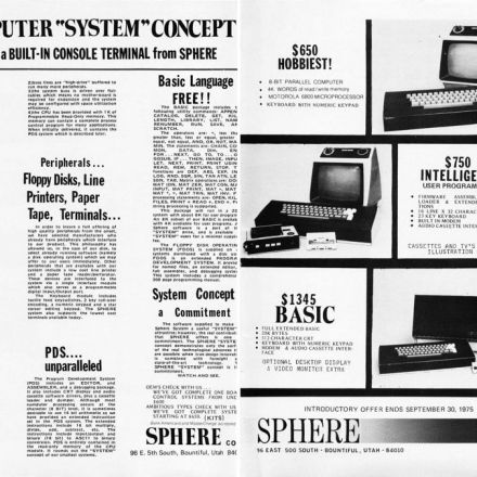 Retro PC Ads - 1975 Sphere 1
