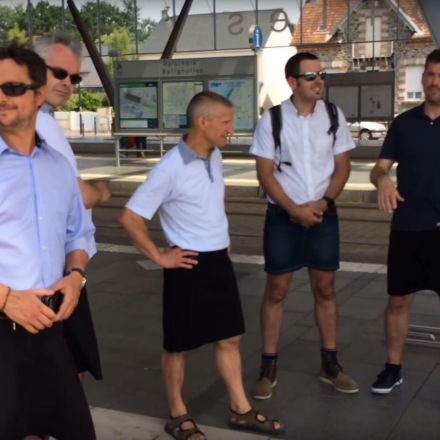 Bus drivers are banned from wearing shorts so are coming into work wearing skirts